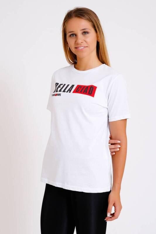 ZECHKA - BEYAZ La Casa De Papel T-Shirt (SA058)