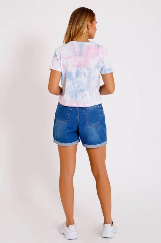 ZECHKA - ÇOK RENKLİ Stranger Baskılı Batik Tişört