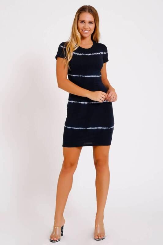 ZECHKA - LACİVERT Bel Dekolteli Batic Elbise (İE001)