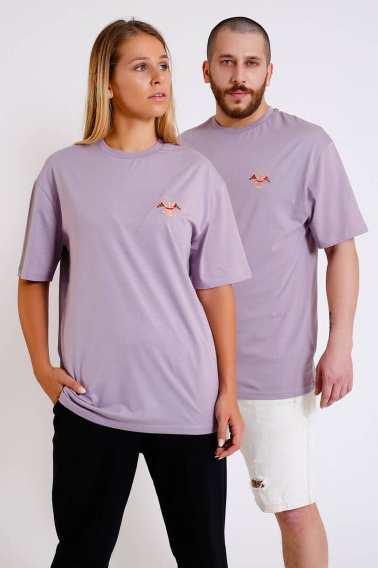 ZECHKA - LİLA Düz Basic Double Match T-Shirt (İY015)