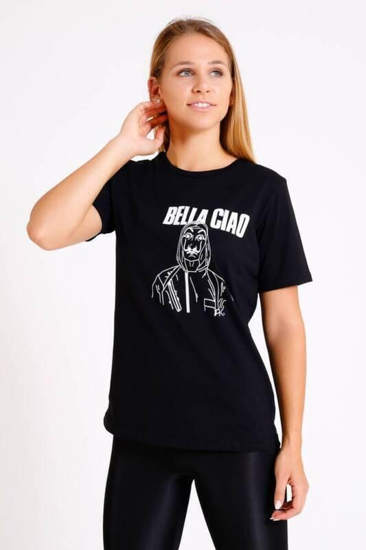 ZECHKA - SİYAH La Casa De Papel T-Shirt (SA058)