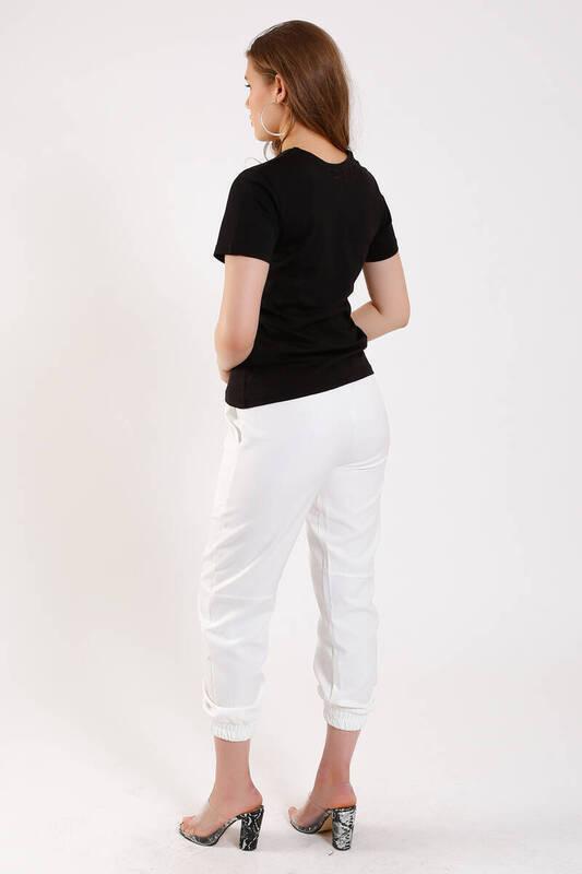 ZECHKA - SİYAH Melek Baskılı T-Shirt (SA036)