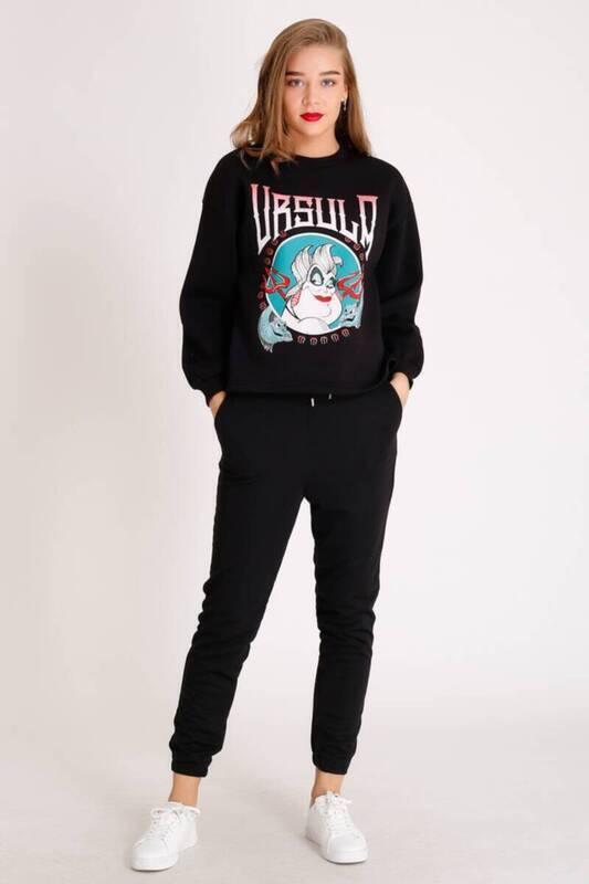 Zechka - Siyah Ursula Baskılı Sweatshirt (ZCK073)