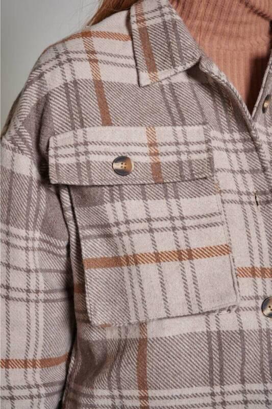 Zechka - Vizon Kısa Oduncu Ekose Gömlek (ZCK0195)