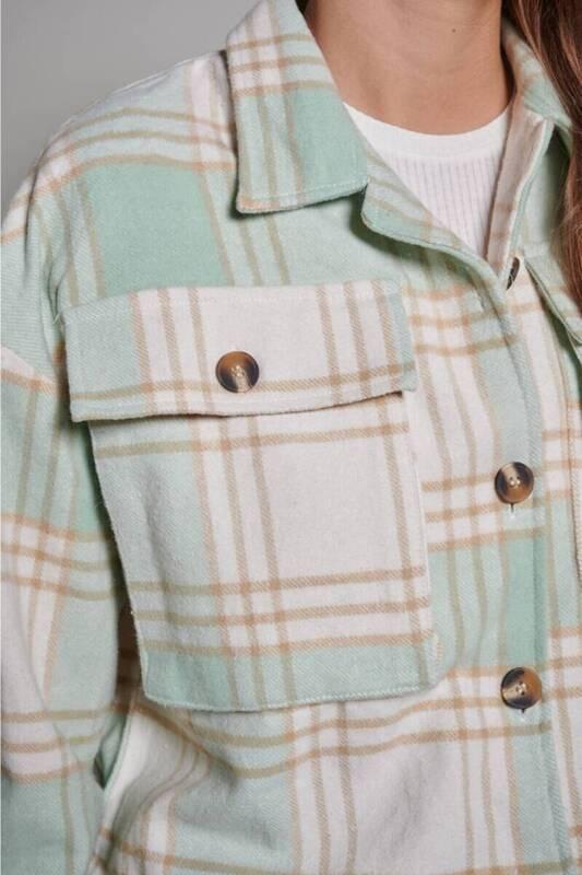 Zechka - Yeşil Kısa Oduncu Ekose Gömlek (ZCK0195)